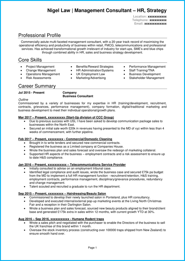 Consultant Cv Examples Google Search Resume Examples Good Resume Examples Job Resume Examples