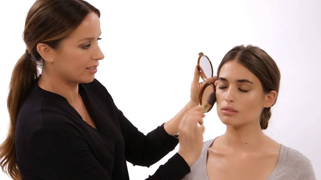 The no sun suntan makeup tutorial with mary phillips estee la based makeup artist mary phillips shares her secrets for glowy no sun exposure necessary bronzed makeup look baditri Gallery