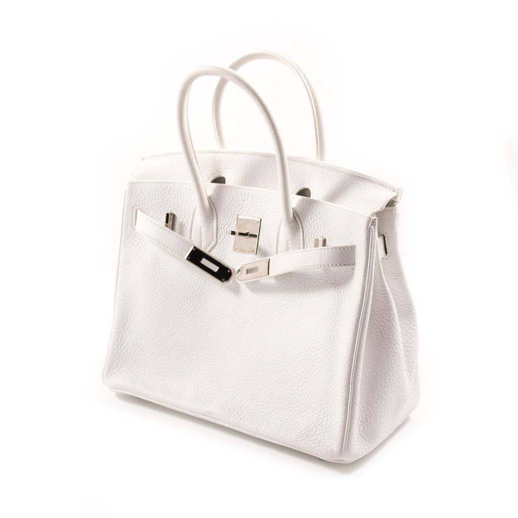 Shop authentic Hermès Birkin 30 White Clemence Leather at REVOGUE ... 001ff95e85