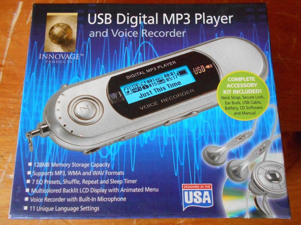 innovage usb digital mp3 player and voice recorder 128mb innovage rh pinterest com GPX Digital Audio Player Coby Digital Audio Player