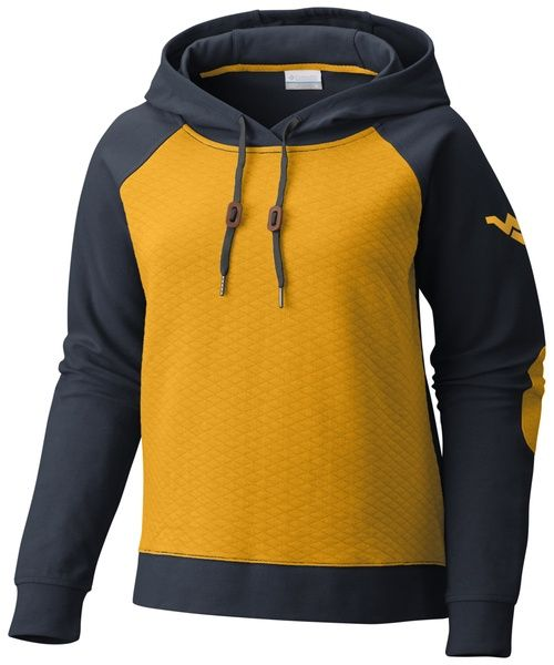 8e7d74169cc164 Show the world you bleed gold and blue in our Columbia WVU Harper Hoodie.  The WVU women s hoodies is a great addition to your game day gear.