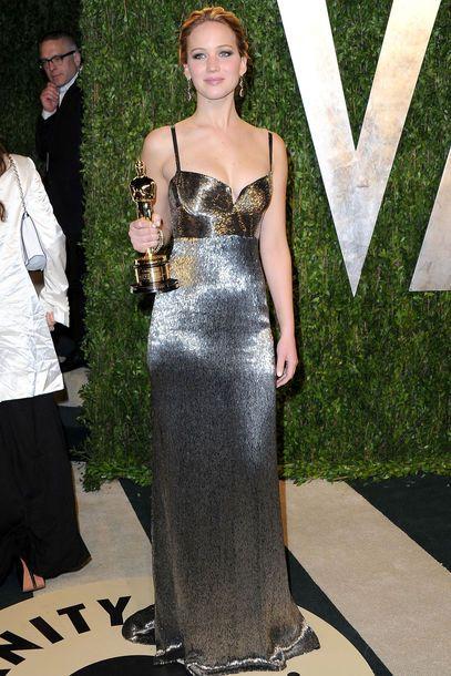 Event Vanity Fair Oscar Party 2013 Glamour Coole Kleider Jennifer Lawrence