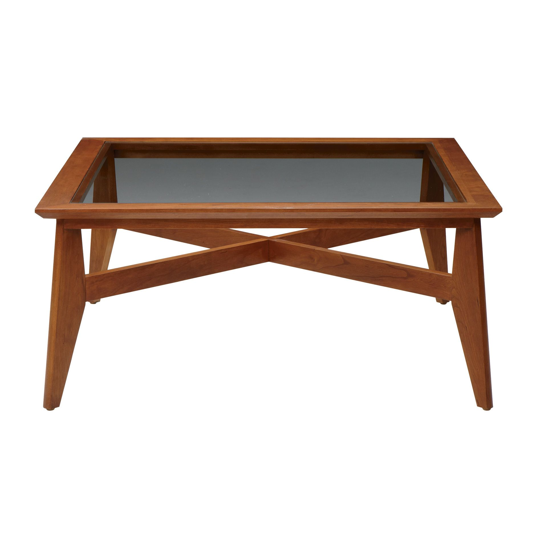Ethan Allen Oval Glass Top Coffee Table: Ethan Allen $636 38 X 38 X 17.5