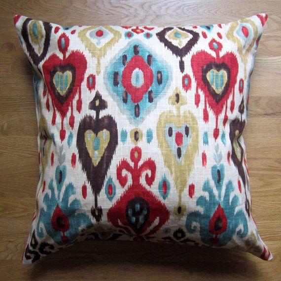 Ikat Floor Pillow Cover, 26x26 Large Pillow Cover, Decorative Floor ...