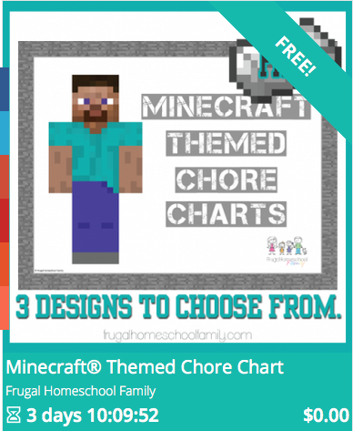 Free printable Minecraft Chore Charts  Educents is offering free printable Minecraft-themed Chore Charts. This is a fun way to encourage your Minecraft-lovers to complete their chores! :)