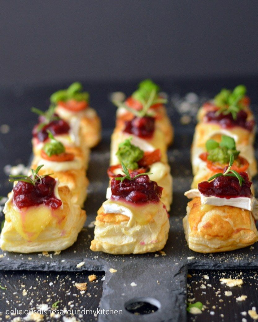 Fingerfood für Silvester- Blätterteig- Häppchen mit zweierlei Topping – Delicious dishes around my kitchen #fingerfoodappetizers