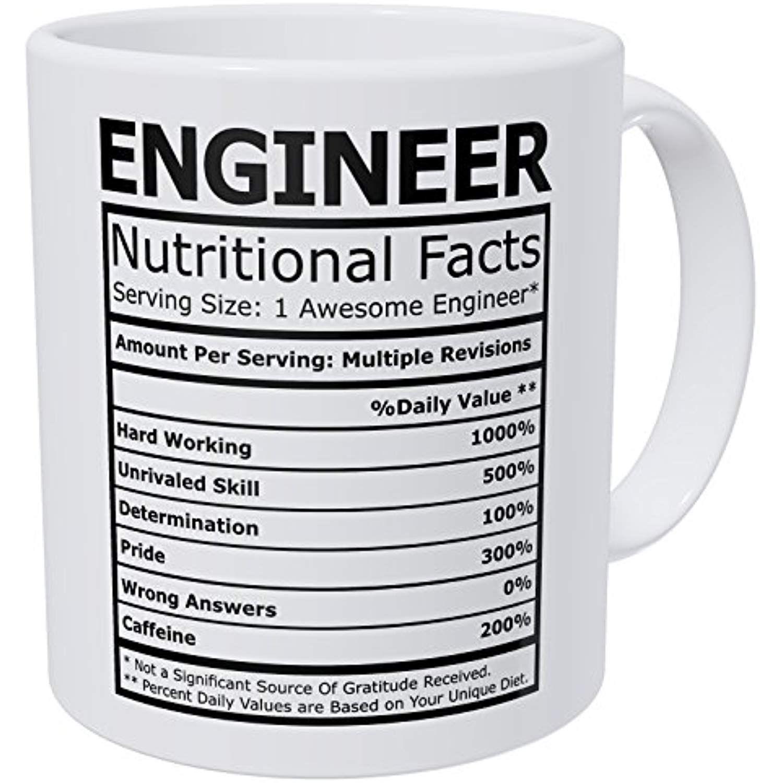 Wampumtuk Engineer Nutritional Facts Funny Coffee Mug 11