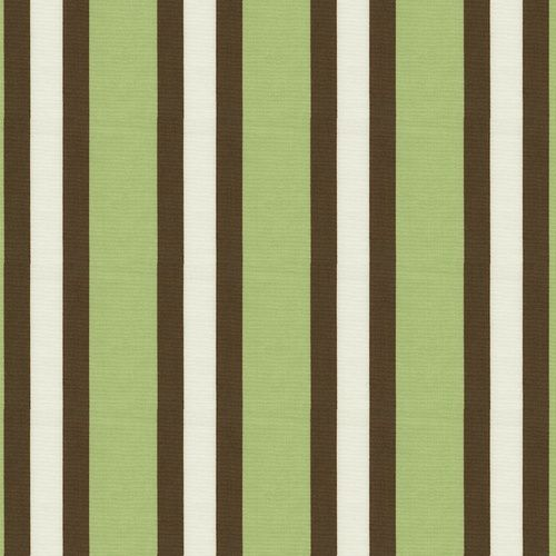 Sage Chirp Stripe Fabric Green Brown And White