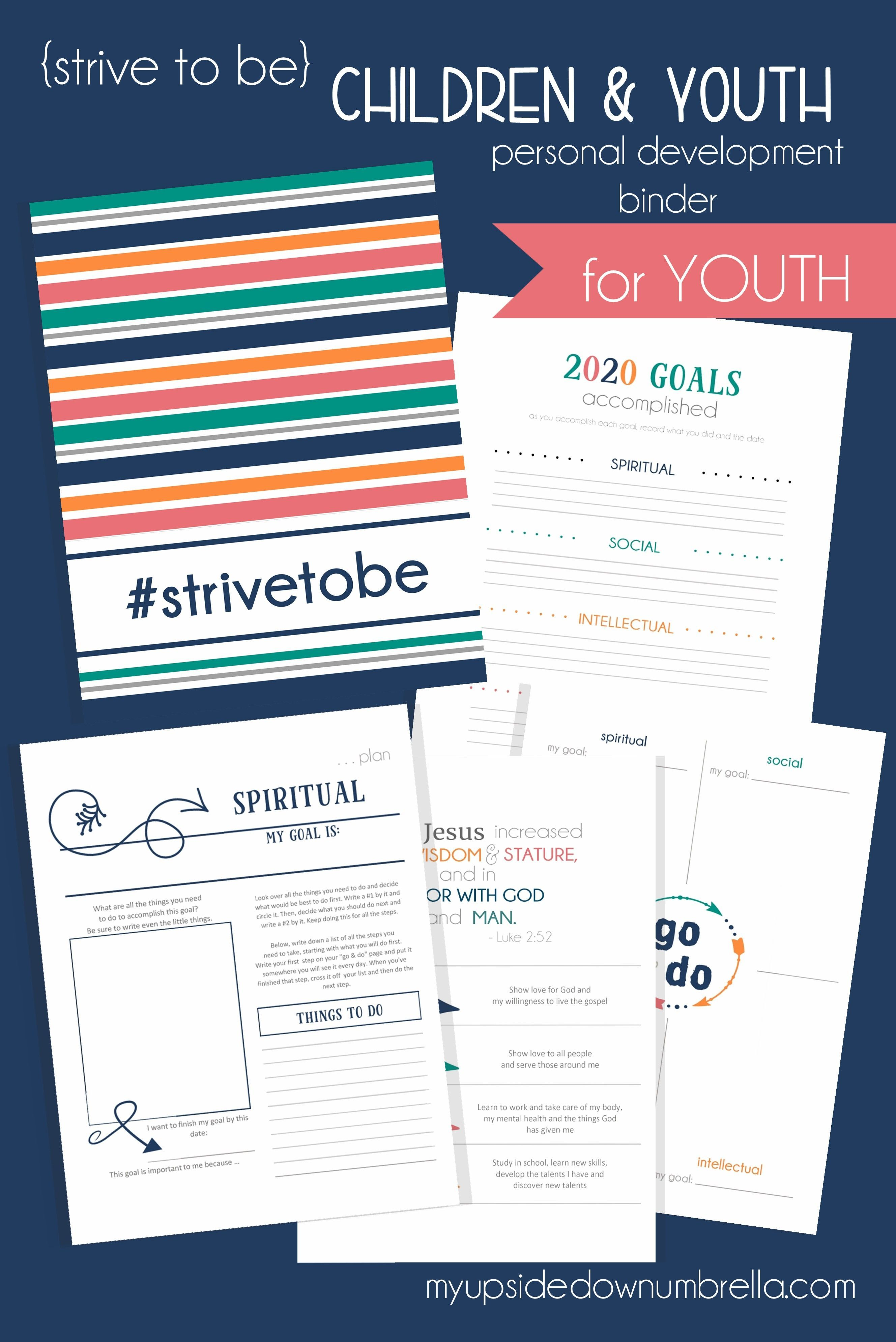 Children And Youth Lds Personal Development Journal