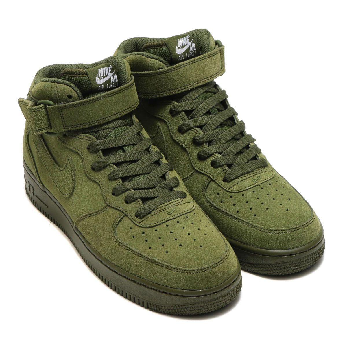 f5b2aee1a2dea NIKE AIR FORCE 1 MID  07 LEGION GREEN LEGION GREEN-WHITE