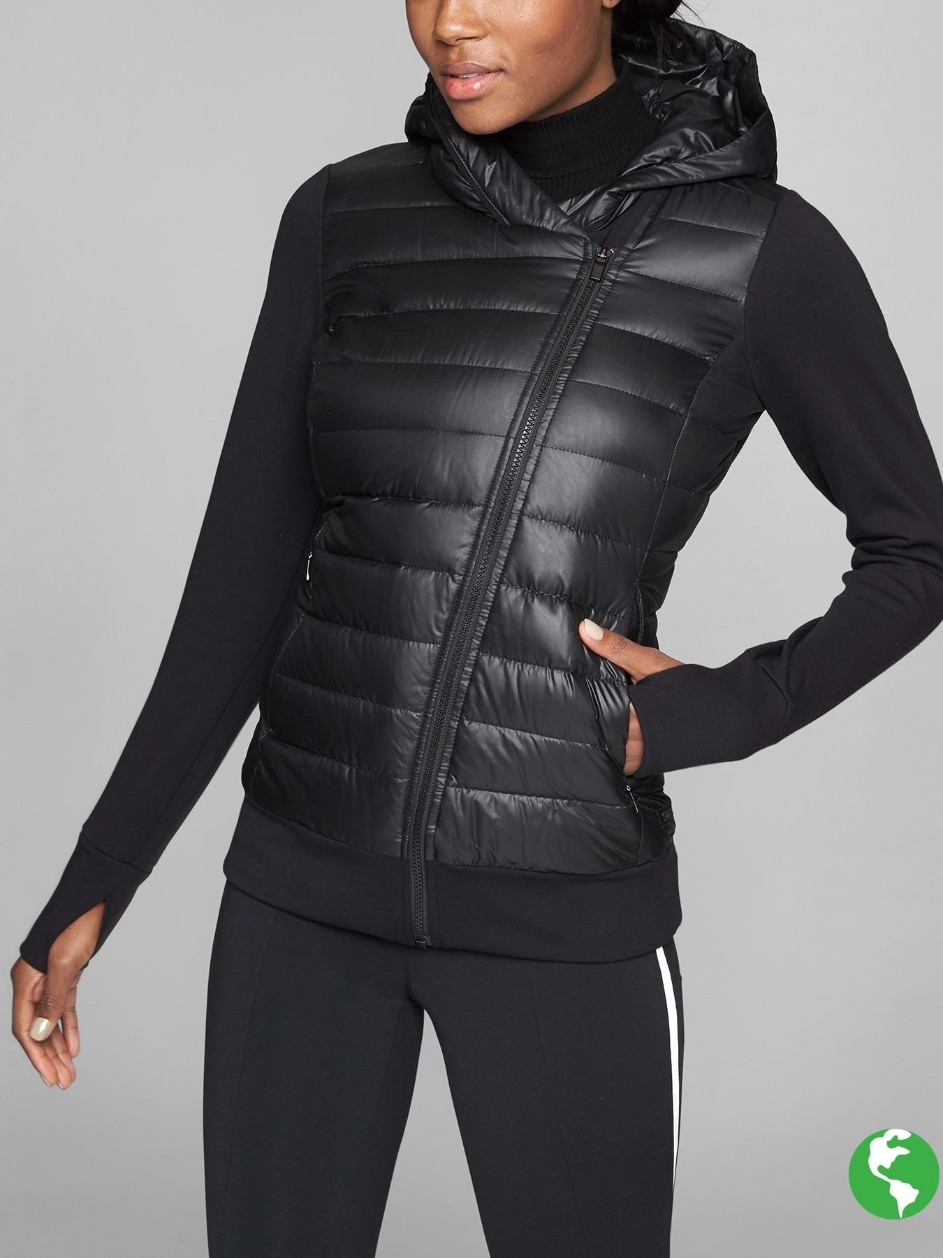 2098839eeb4 ON SALE   Athleta! Responsible Down Sweatshirt. Your favorite hoodie is now  the perfect core warming piece with cozy