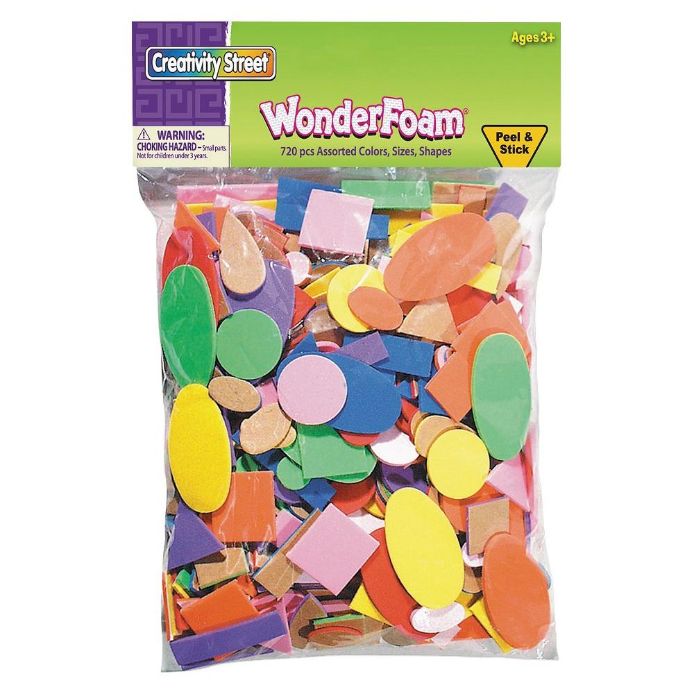 Creativity Street WonderFoam Peel & Stick Shapes - Multi-Colored (720 Pieces),