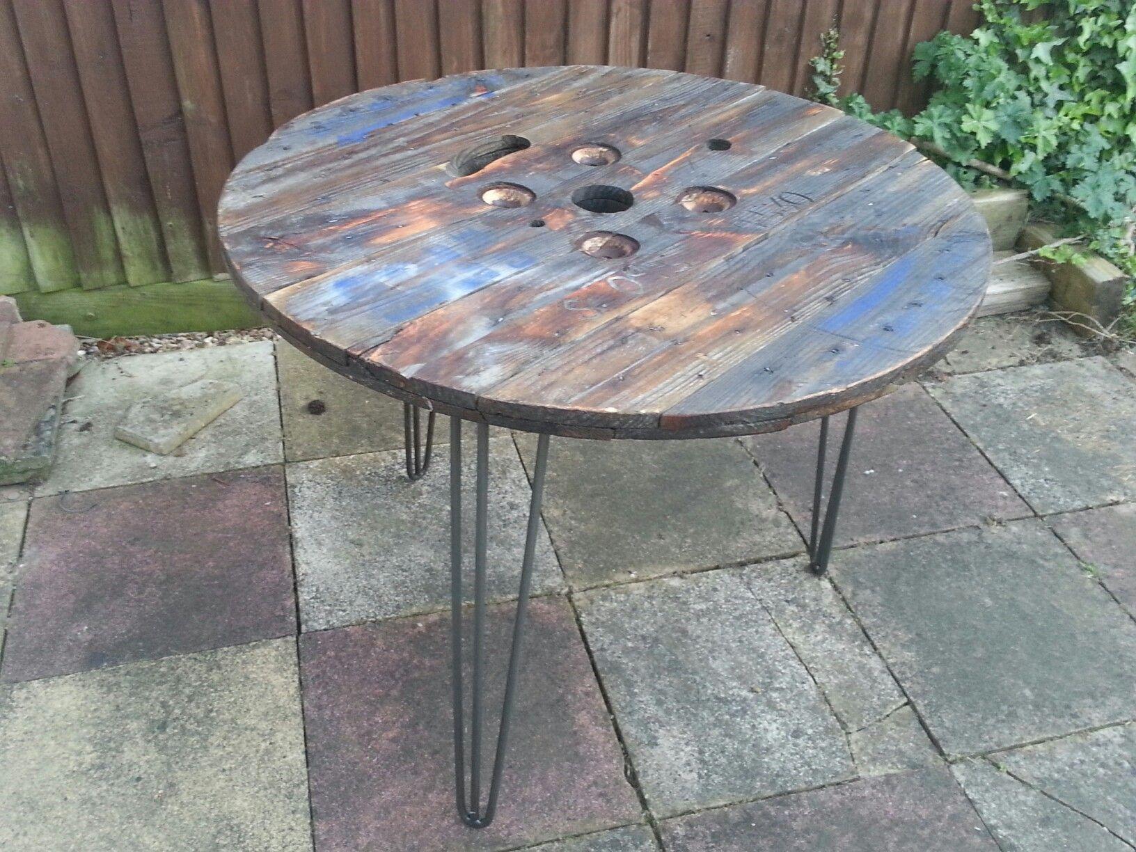 Cable drum outdoor table outdoor table outdoor