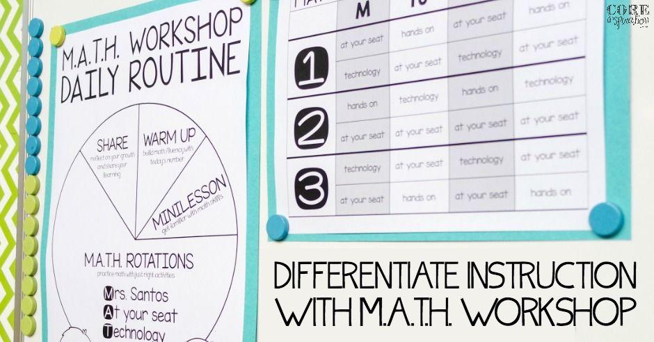 Differentiate Math Instruction With Math Workshop Math