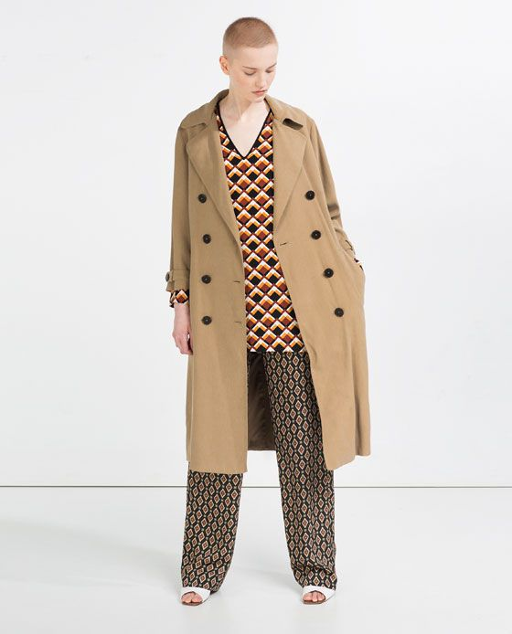 ZARA - WOMAN - LONG CROSSOVER TRENCH COAT