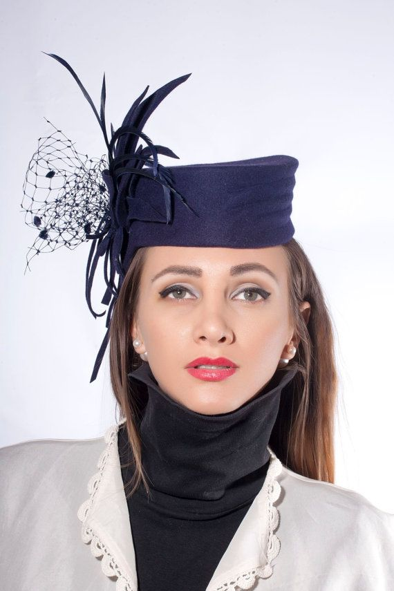 #Elegant and #stylish #pillbox hat! Modern variation from the vintage hat block by Irina Sardareva #Couture #Millinery