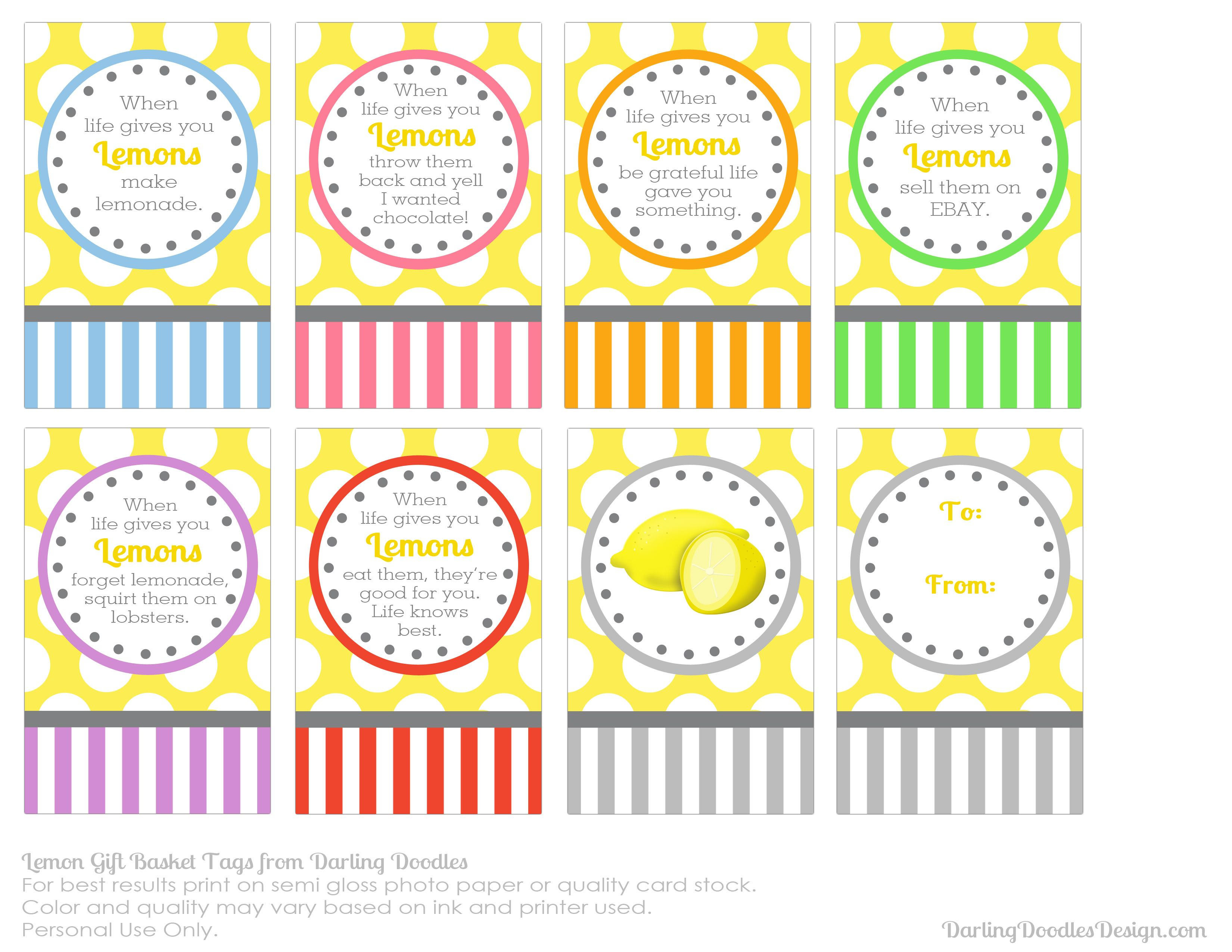 Httpdarlingdoodlesdesignwp contentuploads201304 when life hands you lemons gift basket tags great gift to cheer a friend negle Gallery
