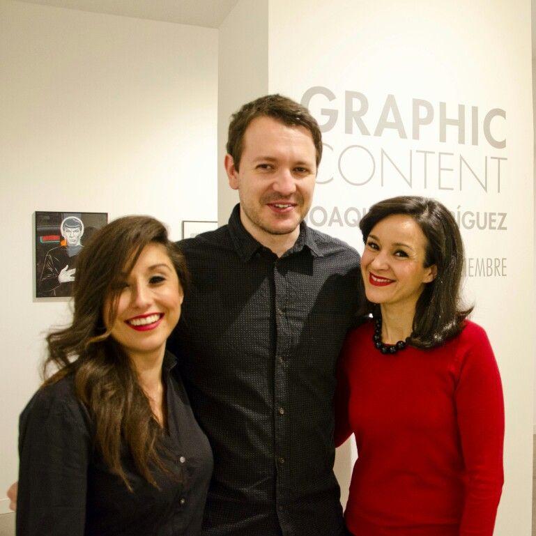 Inauguración de Graphic Content. Una exposición de Joaquín Rodríguez.