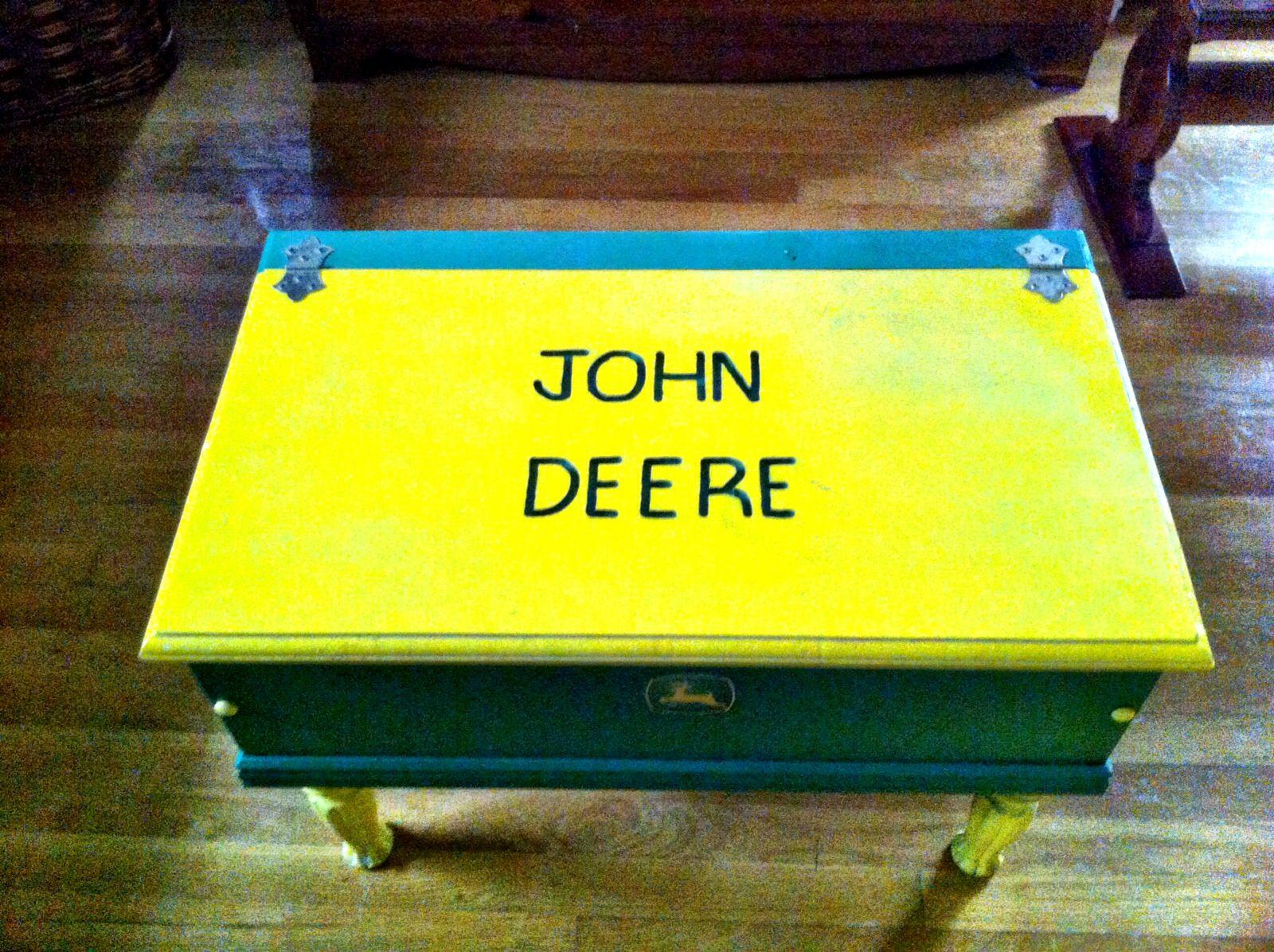 Pin On John Deere Hand Made Storage Bench