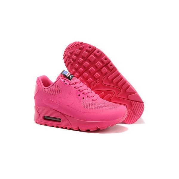 Nike Air Max 90 Hyperfuse Womens Pink featuring polyvore