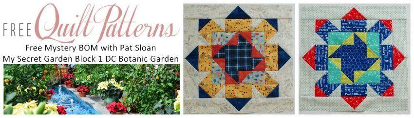 http://www.freequiltpatterns.info/block-one---dc-botanic-garden.htm