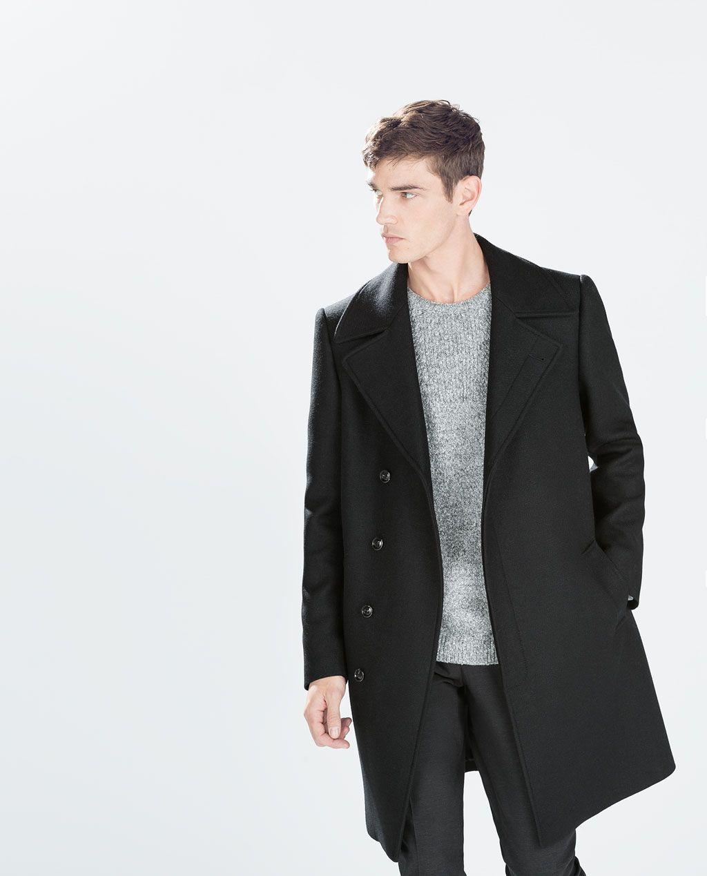 44b8dfbc Image 4 of WOOL COAT from Zara - black ($230) [Black Jacket] | Men's ...