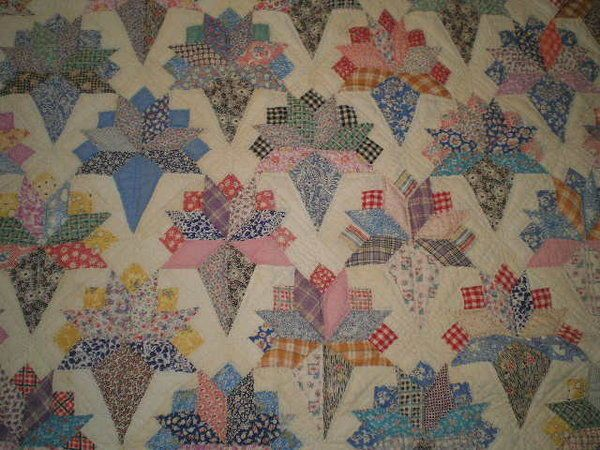 Vintage Bridal Bouquet Feedsack Wedding Bride Patchwork Quilt Hand Stitched Old Ebay Quilts Antique Quilts Old Quilts