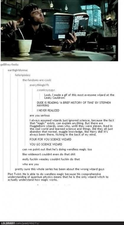 """Pretty sure """"Harry Potter"""" was about the wrong wizard"""