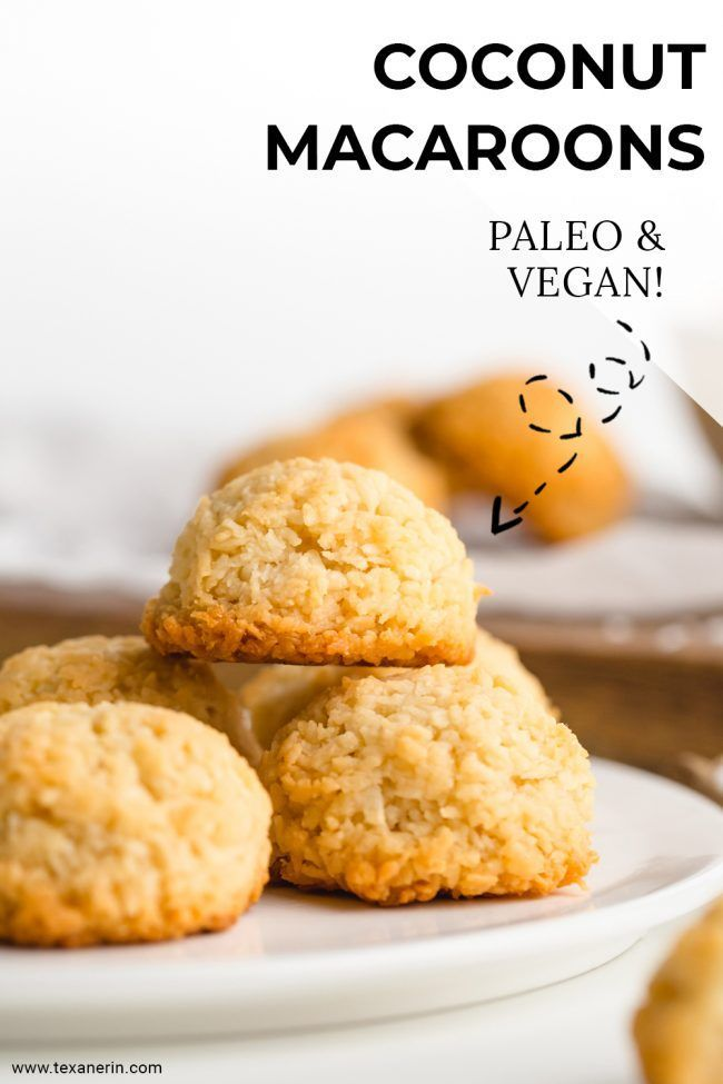 Vegan and Paleo Coconut Macaroons  that are sweetened with maple syrup making this cookies both healthy and irresistible! These chewy on the inside and crisp on the outside macaroons a!re one of the easiest cookie recipes I have! Try them and see if you can eat just one.