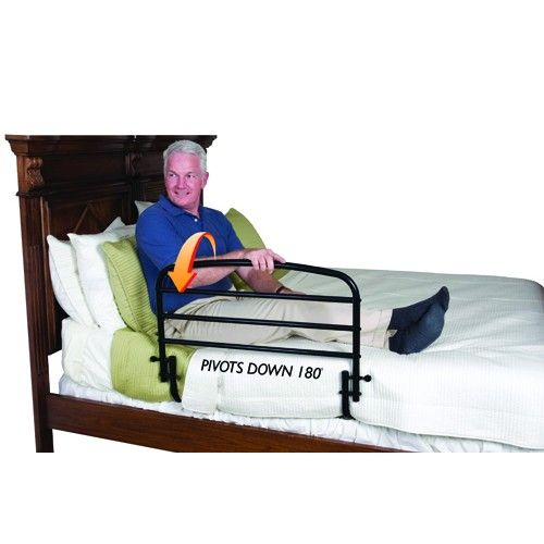 Fold Down Safety Bed Rail Without Pouch Bed Rail Prevents Rolling Or Falling Out Of Bed Providing Safety And Security For With Images Safety Bed Portable Bed Bed Rails