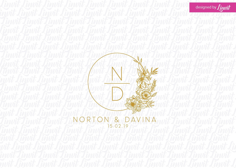 custom wedding logo wedding logo premade wedding logo wedding monogram logo gold logo Luxury Wedding Logo custom luxury logo