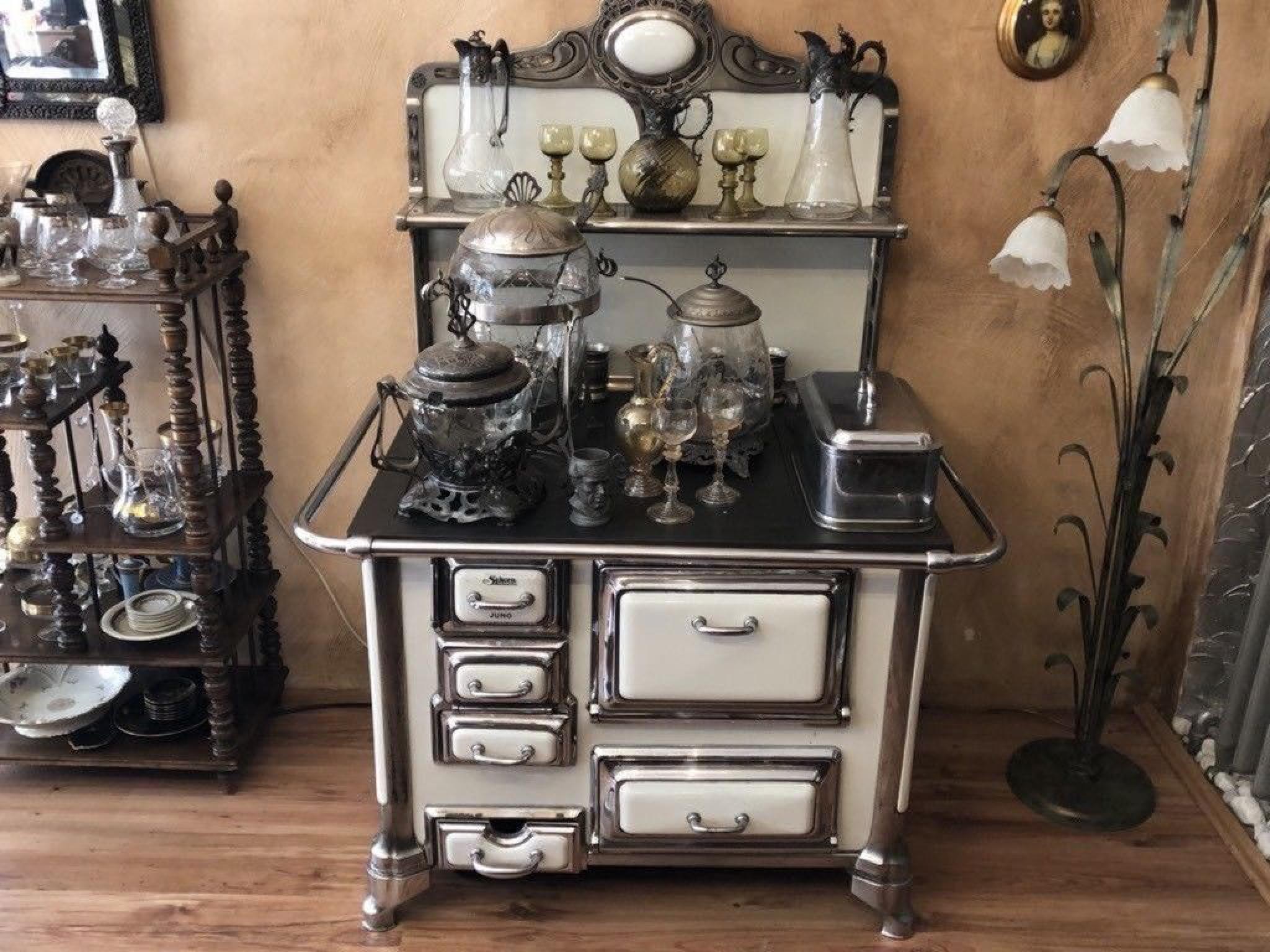 Küchenhexe Antik Ofen Sparherd Kamin Küchenhexe