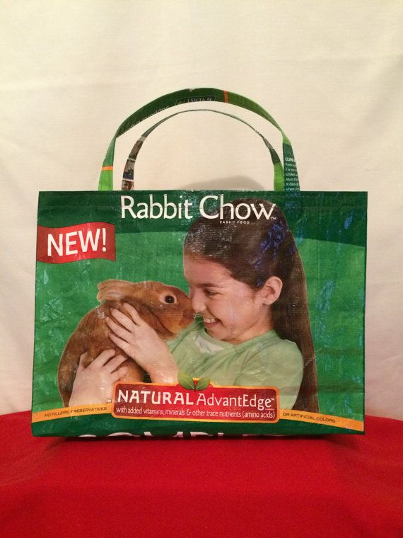 Purina show rabbit Recycled Feed Bag Tote reusable grocery bag reusable tote bag grocery tote recycled tote bag recycled shopping bag