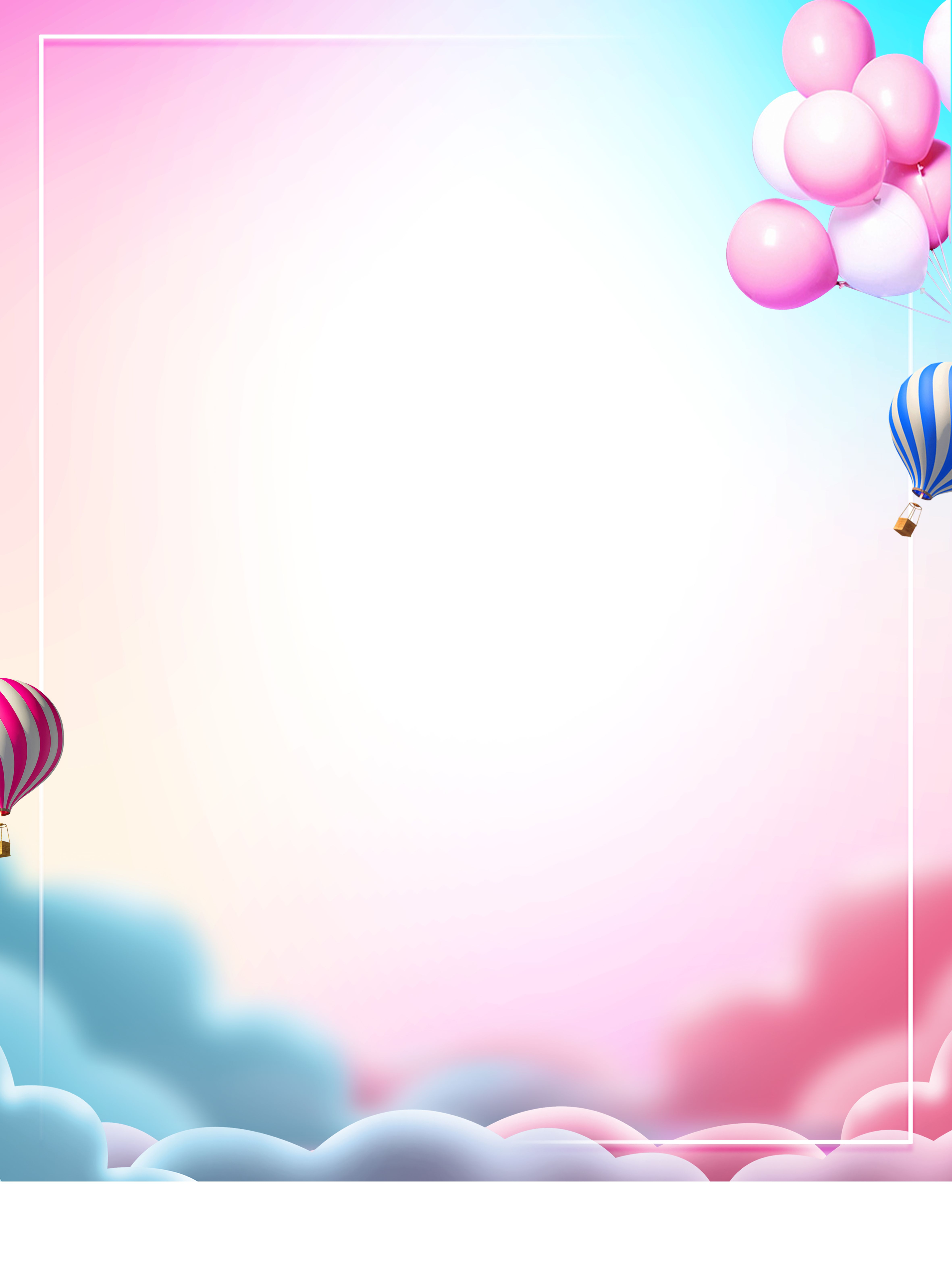 Simple Fresh Balloon Advertising Background Floral Wallpaper Phone Balloons Balloon Background