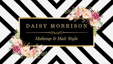 Gold vintage floral makeup and hair stylist beauty salon business girly hair salon business cards page 1 reheart Image collections
