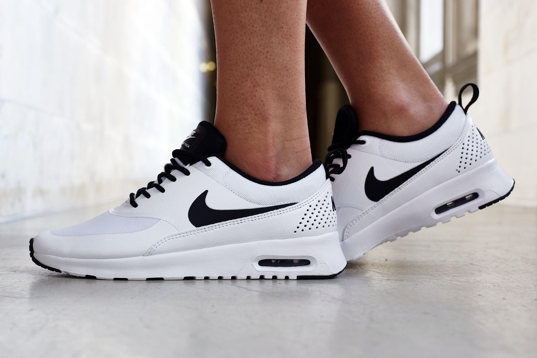 On Foot Look Nike Air Max Thea WhiteBlack | Nice Kicks