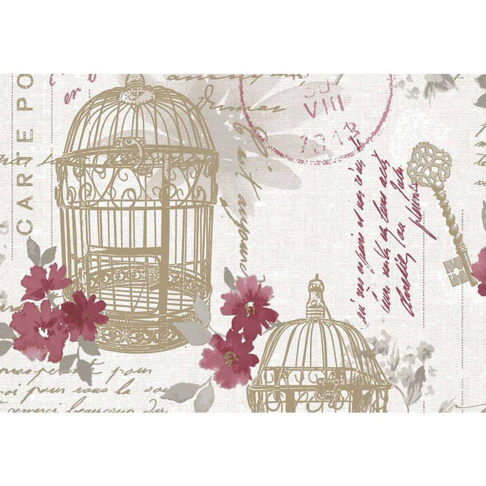 Fresco Birdcage Red Wallpaper Red Wallpaper Green Wallpaper Jungle Wallpaper