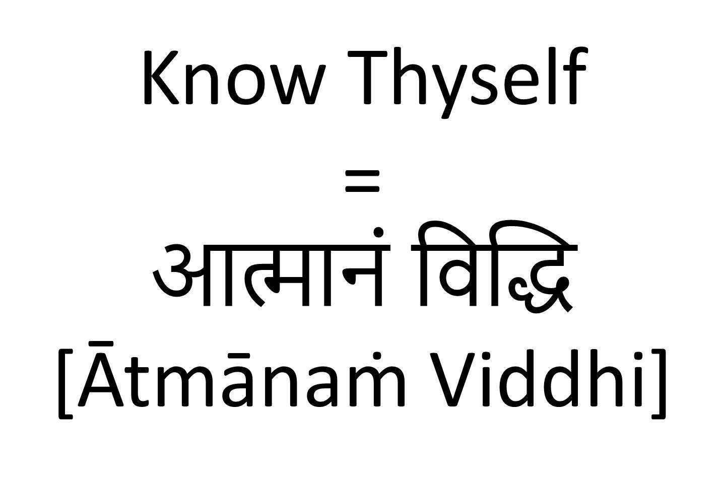 How to Say Know Thyself in Sanskrit | Sanskrit Tattoos ...