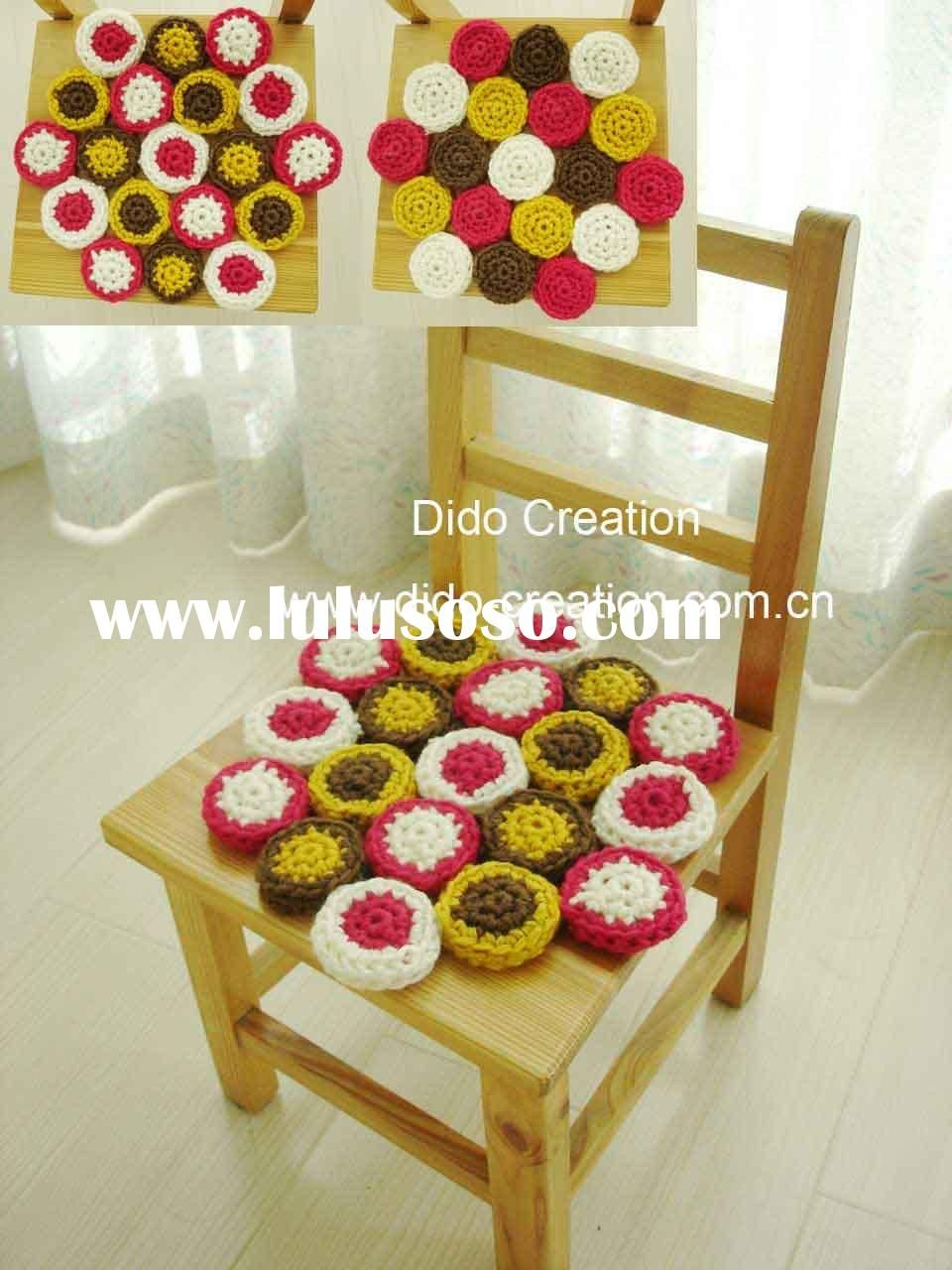 cushions for my dining room chairs crochet chair pads crochet chair pads in