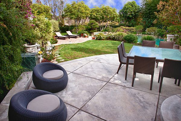 Your Concrete Jungle Eight Steps For Improving Your Sidewalks And Patios Large Backyard Landscaping Concrete Patio Designs Stamped Concrete Patio