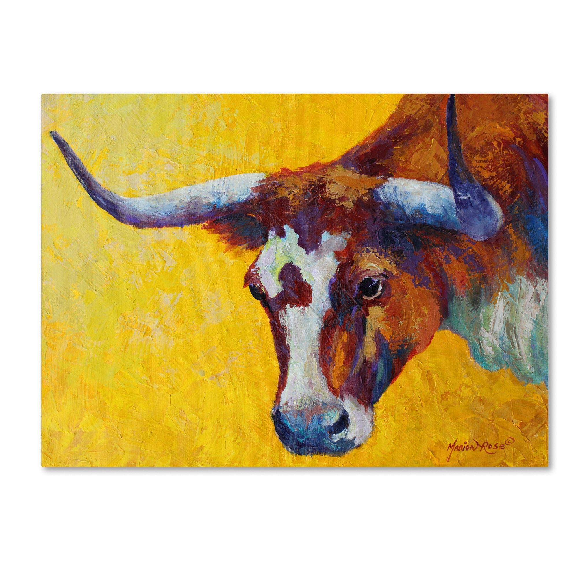 Marion | Products | Pinterest | Longhorn cow, Cow and Canvases
