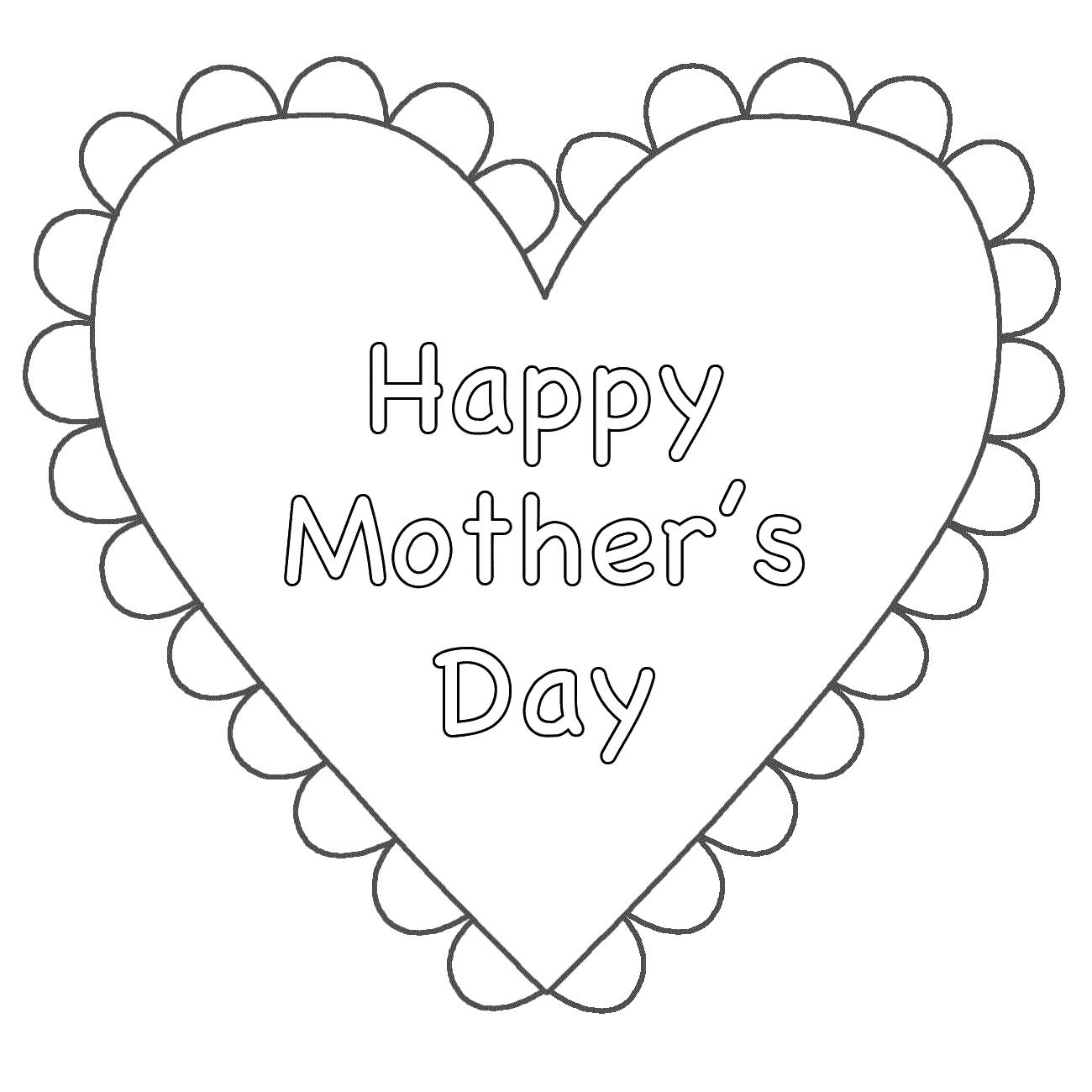 Happy Mothers Day Coloring Pages Free | Mother\'s Day | Pinterest