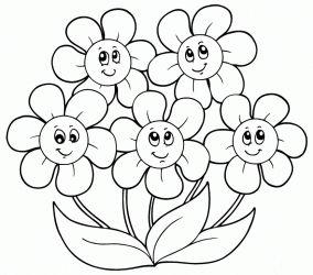 çiçek Boyama Resimleri Googleda Ara Flowers Coloring Books