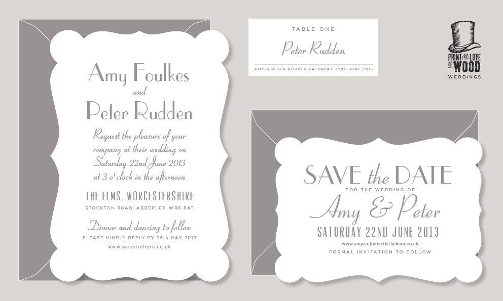 print for love of wood letterpress: 1930s Letterpress Wedding ...