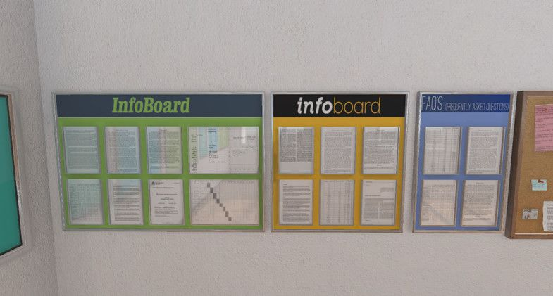 Posters And Boards Boards Posters Interior Props Interior Props Business Website Info Board
