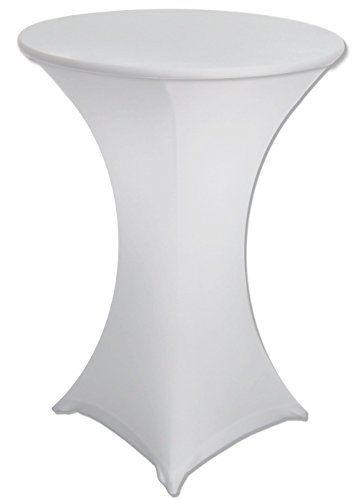 30 Diameter X 42 Height White Spandex Highboy Table Cove Table Covers Table Cloth Highboy Table