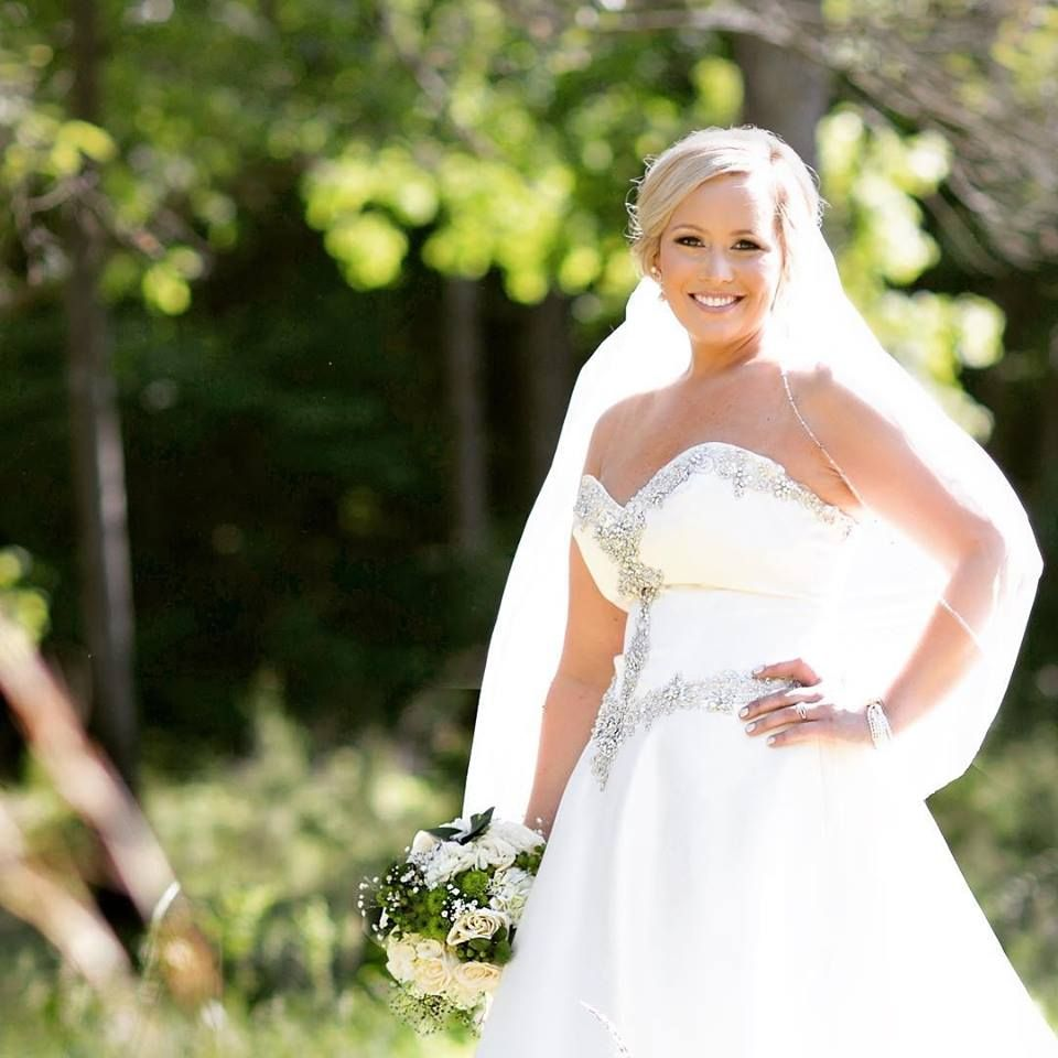 Simpson's Real Bride, Mrs. Megan Moreau, Wearing Mori Lee