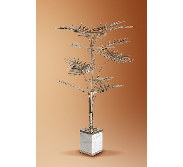 Ivete Is A Floor Lamp Shaped As A Palm Tree Produced In A Square Carrara Marble Base And Gold Plated Brass Its Desig Modern Lamp Luxury Lamps Affordable Lamp