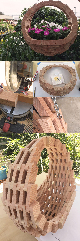 DIY Wooden Hanging Planter Basket The Home Depot