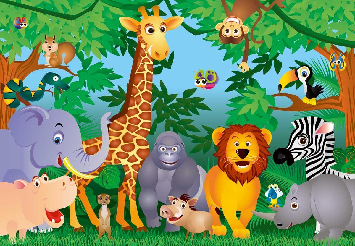 Cartoon Jungle Animals for Kids